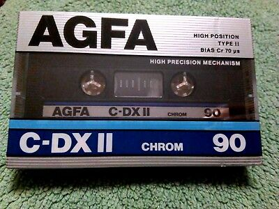 CASSETTE TAPE BLANK SEALED 1x (one) AGFA C-DX II 90 chrom [1987] made in Germany