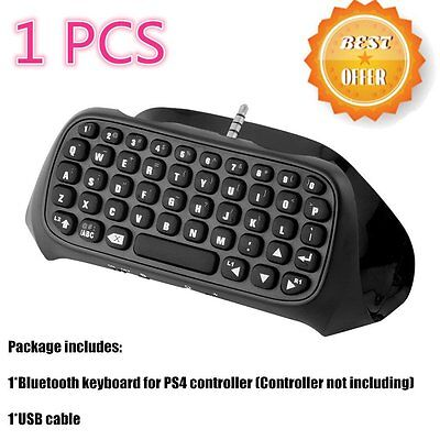 Bluetooth Wireless Keyboard Chatpad Keypad For PS4 PlayStation 4 Controller CU