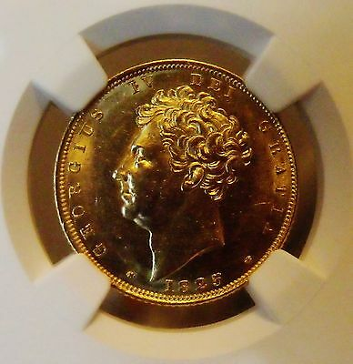 1825 George Iv Sovereign  Rare.mint State  Example Ngc Certified