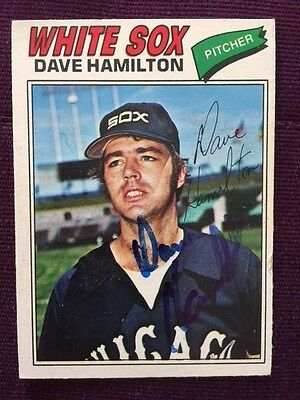 1977 OPC Dave Hamilton Autographed Signed Card # 224