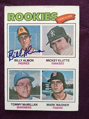 1977 Topps Billy Almon Autographed Signed Card # 490