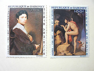 """007] Stamps Of Dahomey - 1967  Centenary Of The Death Of """" Ingres """" - Painter -"""