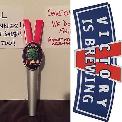 Victory Hop Devil IPA Beer Tap Handle (#02) & FREE Victory Sticker Lot