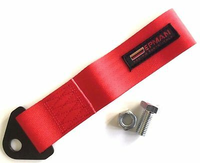 RED TOW STRAP EYE LOOP. For JDM Drift - Track - Racing - Rally