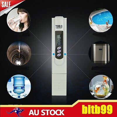 Digital LCD TDS EC TEMP PPM Meter Tester Hydroponic Pen Water Quality Purity CU