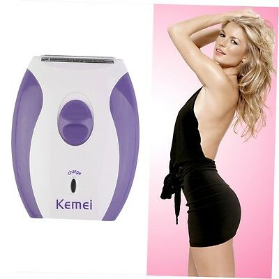Women Lady Rechargeable Electric Skin Body Hair Removal Shaver Trimmer Clean CU