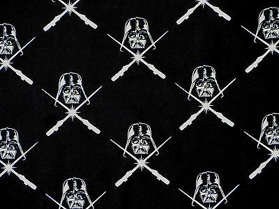 Fat Quarter Star Wars Comic Movie 100% Cotton Fabric Glow In Dark Darth Vader Fq