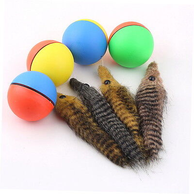 Dog Cat Weasel Motorized Funny Rolling Ball Pet Appears Jump Moving Alive Toy BF