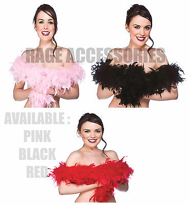 FEATHER BOA LENGTH 1.5m GIRLS NIGHT OUT COLOURS FEATHERS BOA HEN STAG PARTY