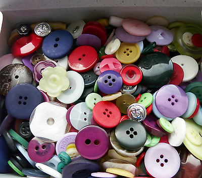 Bumper Box Of New Assorted Buttons 700G Weight Assortment Free P&p Uk