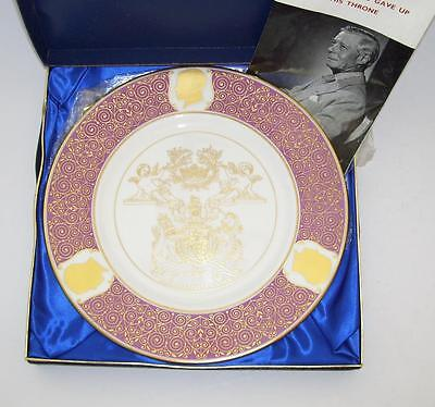 Coalport Limited Edition Duke of Windsor Plate.The King Who Gave Up The Throne.