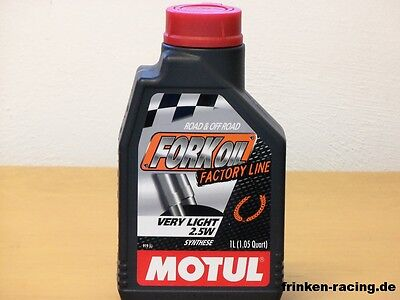 16,75€/l  Motul Fork Oil Factory Line Very Light 2,5W 2 x 1Ltr Gabelöl