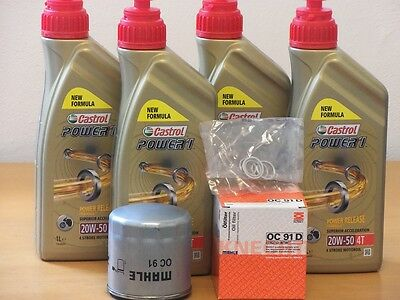 Castrol mineral 20W-50 / Mahle Ölfilter + Dicht BMW R1150 R Roadster Bj 01 - 06