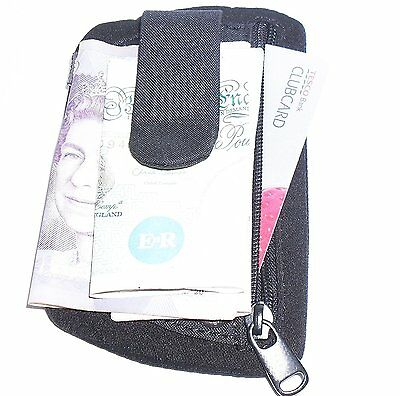 Strong Slim Money Clip & Card Holder with Belt Clip  by 'Go Travel' Black