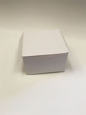 "White All In One Cake Box Boxes & Lid 6"" x 6"" x 4"" High - Select Pack Qty"