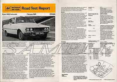 AA Road Test Rover 3500 Automatic February 1974 (80)