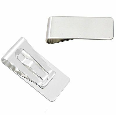Slim Stylish Classic Silver Plated Money Clip by Solo