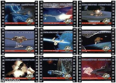 Star Trek Cinema 2000 2K Silver GALACTIC CONFLIX 9 Card Set numbered to 1000