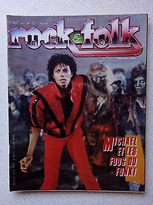 Rock&Folk mag 1984 Michael Jackson, Yes, The Clash, Alan Vega, Dolly Parton