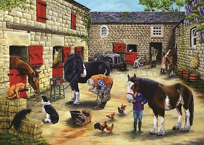 The House Of Puzzles - 500 PIECE JIGSAW PUZZLE - Farrier's Visit Unusual Pieces