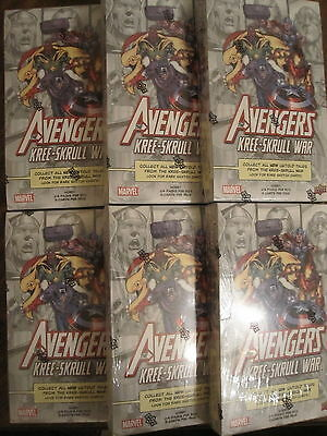 Factory Sealed 6 Hobby Box Lot 2011 Marvel Avengers Kree-Skrull War Comic Cards