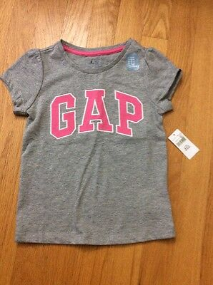 NWT Baby Gap Toddler Girl Gray T shirt, Size 4