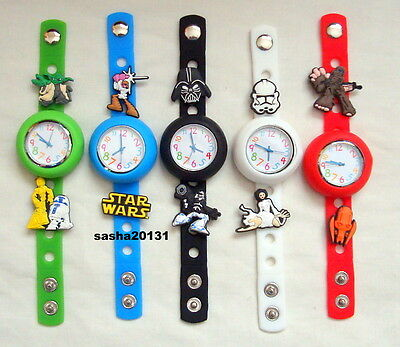 Star Wars Jibbitz Band Watch  & A Set Of 11 Charms, Brand New