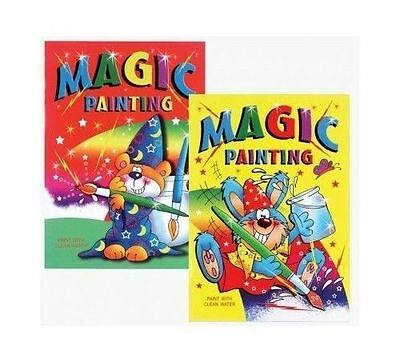 4 X Children's A4 Magic Painting Colouring In Books - Just Use Water