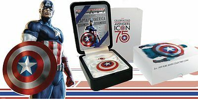 Marvel's Limited Edition Captain America 75th Anniversary Shield Coin Silver