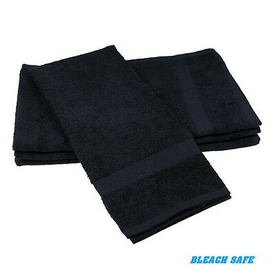 48 new black 16x27 salon hand towels hair towels hair cutting cleaning towels 3#
