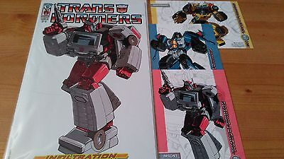 Transformers Infiltration 2 Ri-C Comic Very Rare With Cards