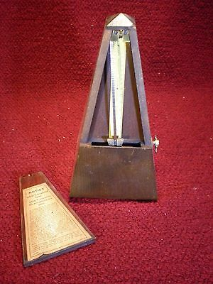 Antique Seth Thomas Metronome de Maelzel Working With Original Box