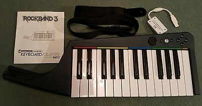 Rock Band 3 Wireless Keyboard For Nintendo Wii