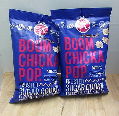 2 Angie's Boom Chicka Pop Holidrizzle Kettle Corn Frosted Sugar Cookie Popcorn