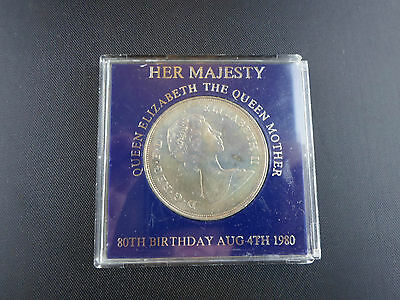 Her Majesty Queen Elizabeth The Queen Mother 80Th Birthday Silver Coin.