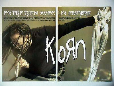 COUPURE DE PRESSE-CLIPPING :  KORN [8pages] 07/2004 Jonathan Davis,Greatest Hits