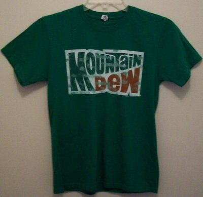 Mountain Dew soda short sleeve graphic t-shirt adult small