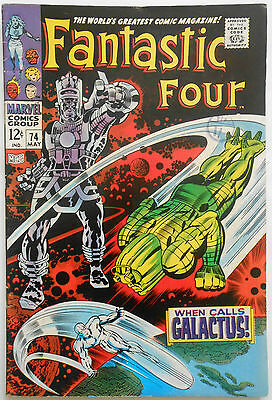 Fantastic Four #74 - May 1968 - Silver Surfer! - Fn/vfn (7.0) Cents Copy!