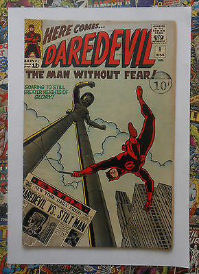 DAREDEVIL #8 - JUN 1965 - 1st STILT MAN APPEARANCE!  - FN/VFN (7.0) CENTS COPY!!