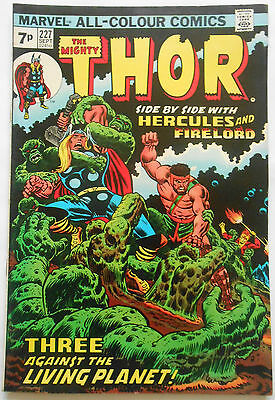 Thor #227 - Sept 1974 - Ego Appearance! - Fn+ (6.5) Pence Copy!