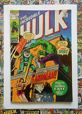 Incredible Hulk #138 - Apr 1971 - Sandman Appearance! - Fn/vfn (7.0) Pence!