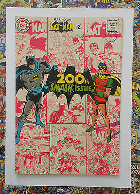BATMAN #200 - MAR 1968 - BATMAN ORIGIN + 1st NEAL ADAMS COVER! - VFN- (7.5)