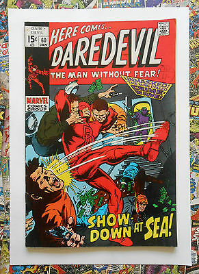 Daredevil #60 - Jan 1970 - Crime-Wave Appearance! - Fn/vfn (7.0) Cents Copy!!