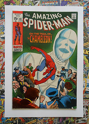 Amazing Spider-Man #80 - Jan 1970 - The Chameleon! - Vfn+ (8.5) Cents Copy!