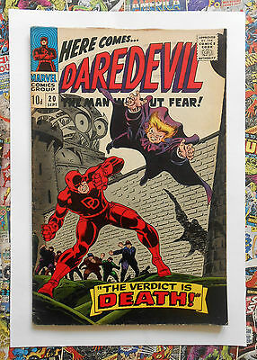 Daredevil #20 - Sept 1966 - The Owl Appearance! - Fn+ (6.5) Pence Copy!