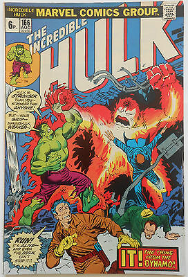 INCREDIBLE HULK #166 - AUG 1973 - 1st ZZZAX APPEARANCE! - FN+ (6.5)