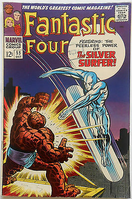 FANTASTIC FOUR #55 - OCT 1966 - 4th SILVER SURFER!  - VFN+ (8.5) CENTS COPY!