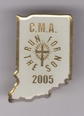 """C.M.A """"RUN FOR THE SON"""" 2005 Christian Motorcyclists Association Pin"""