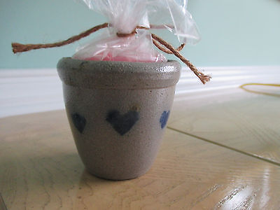 Rowe pottery votive holder w/candle