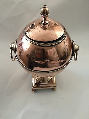 4 Balls footed1830's Antique English Copper Samovar with twin Handles